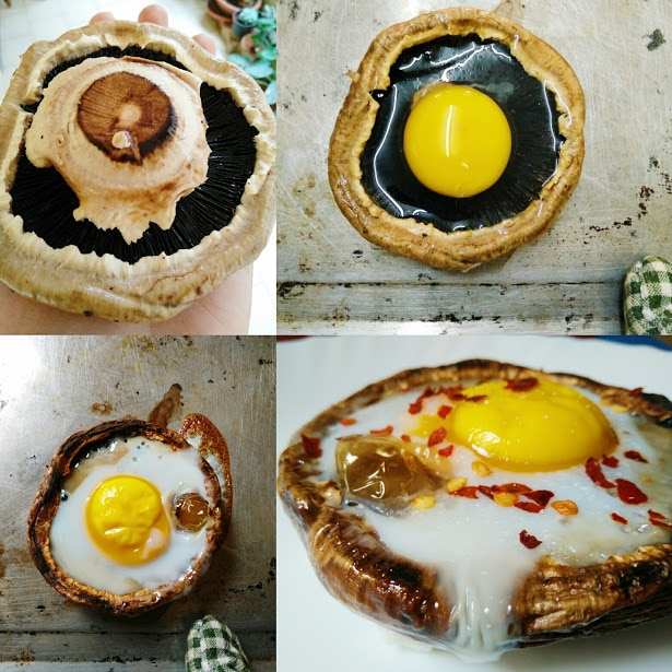 Egg Baked in Portobello Mushroom