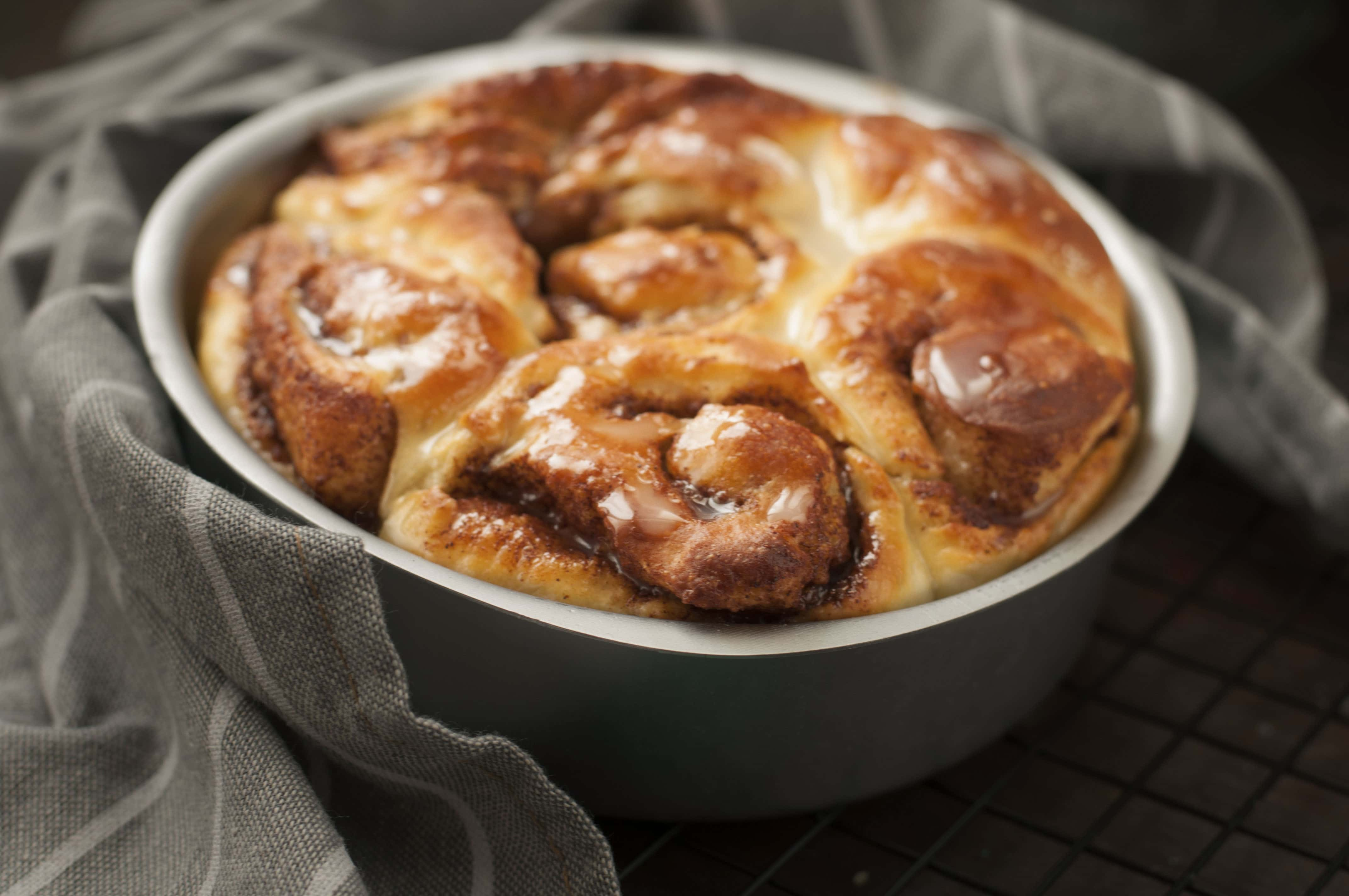 Homemade Cinnamon Buns with Sugar Glaze