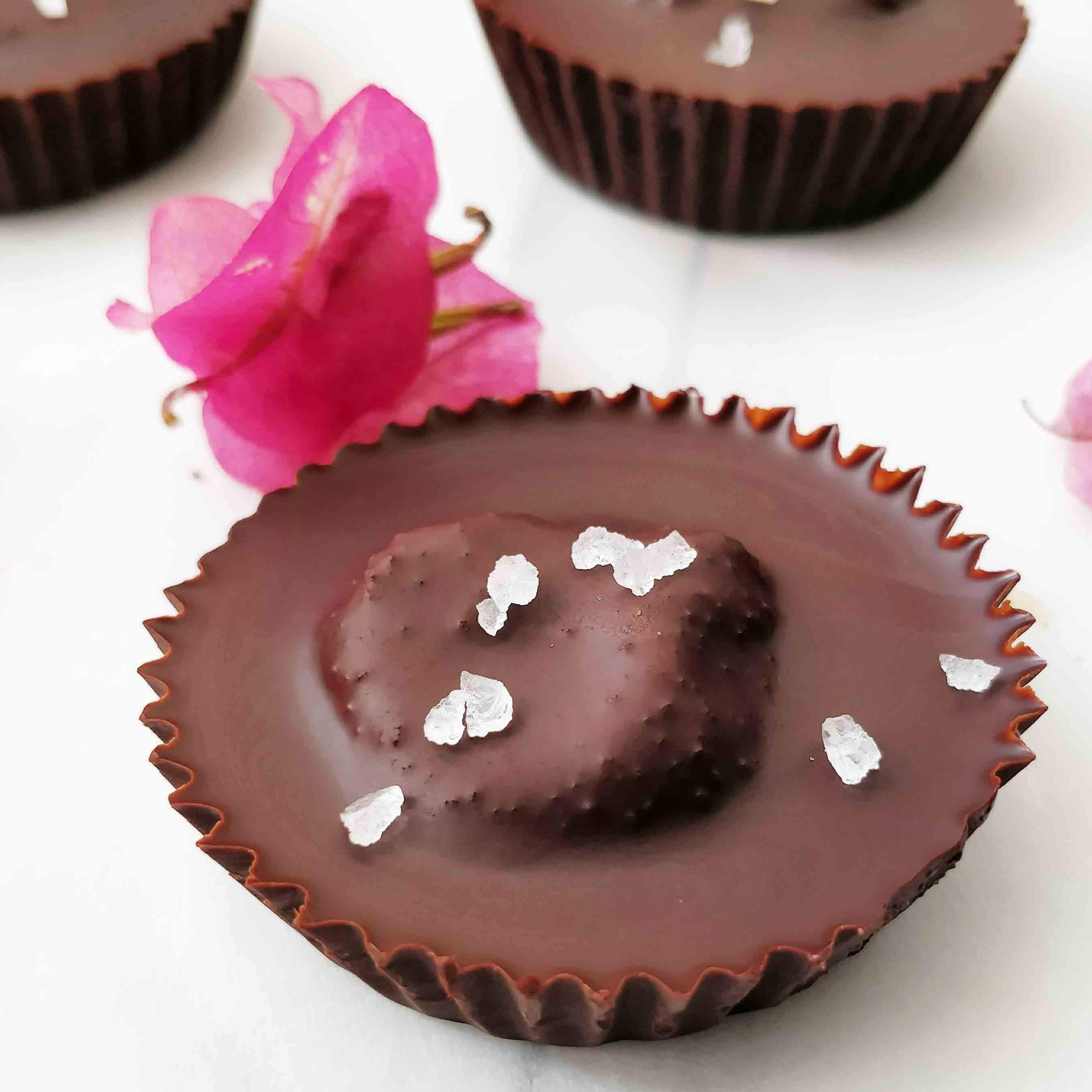 Homemade Dark Chocolate Peanut Butter Cups