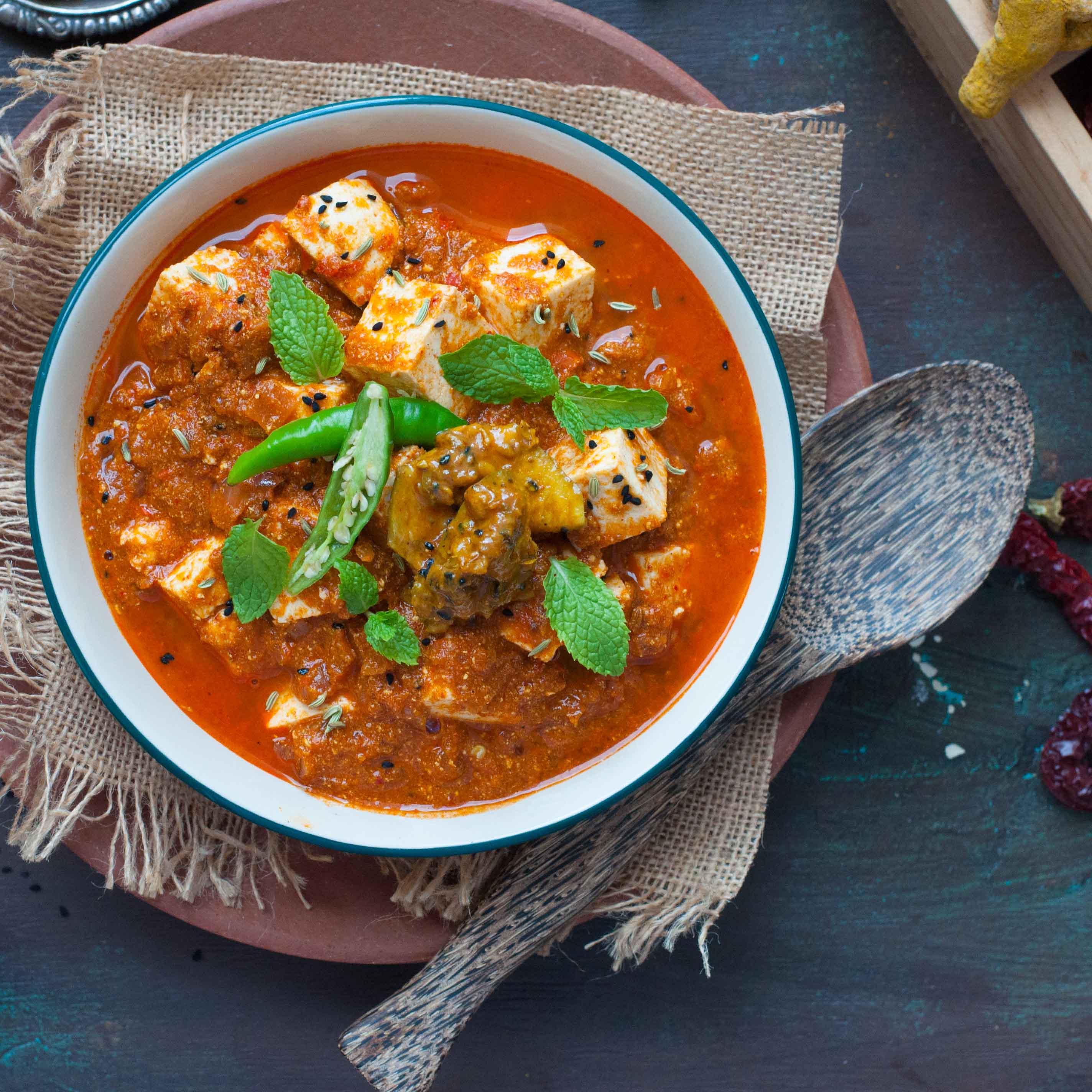 Homemade Achari Paneer Masala