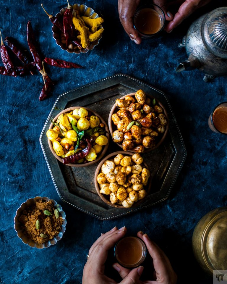 Roasted Makhana Recipe – three ways – Healthy, Vegan & Gluten Free