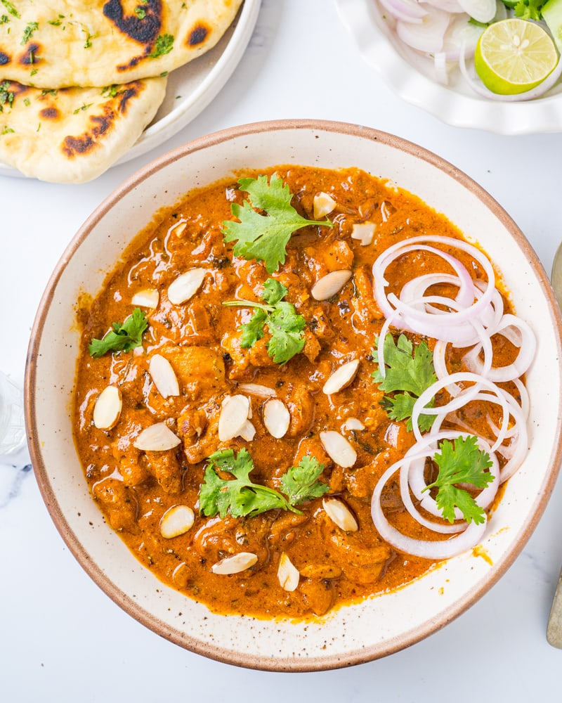 Instant Pot Chicken Tikka Masala in a white bowl
