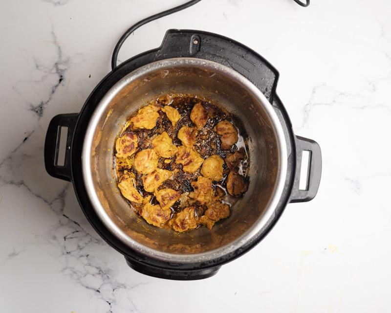 Instant Pot Chicken Tikka Masala cooking shot